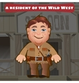 Fictional character a resident of the Wild West vector image vector image