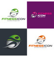 fitness icon and logo vector image vector image