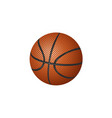flat cartoon basketball ball isolated vector image vector image