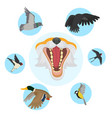 fox open mouth head and foxes food and diet of vector image vector image