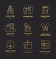 Gift Boxes Logo vector image