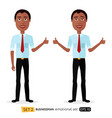 glad smile happy african american business vector image