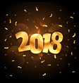 golden shiny 2018 new year party celebration with vector image vector image