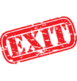Grunge exit rubber stamp vector image vector image