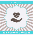 hand holding heart medical icon graphic elements vector image vector image