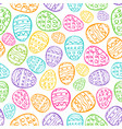 happy easter background eggs cartoon doodle vector image vector image