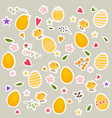 Happy easter cards with Easter eggs vector image