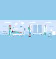 hospital ward cartoon flat vector image vector image