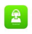 housemaid icon green vector image