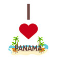 i love panama travel palm summer lounge chair vector image vector image