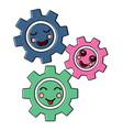 kawaii gears motion and mechanics cartoon