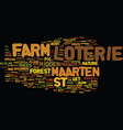 loterie farm st maarten text background word vector image vector image