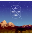 Low polygonal mountains at night vector image vector image