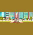 metropolis busy street cartoon concept vector image vector image