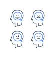 mood swing bipolar disorder manic depression vector image