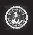mountain biking vector image vector image