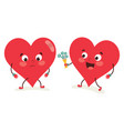 of heart character vector image