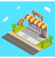 Online shop flat isometric concept vector image