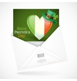 Patricks Day Irish Flag In The Shape Of A Heart vector image vector image