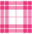 pink and white tartan plaid seamless pattern vector image