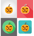 Pumpkins for halloween flat icons 16