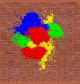 red brick brick wall vector image