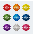 Sales stickers vector image vector image
