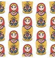 Seamless colorful retro Russian Doll vector image