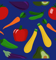 seamless pattern of healthy veggies vector image