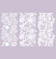 set of black lacy vintage elegant trims vector image vector image