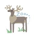 Set of Cute Zoo Animal Kawaii eyes and vector image vector image