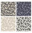 Set of Four Monochrome Halloween Backgrounds vector image vector image