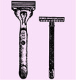 shaving razor and disposable razor vector image vector image