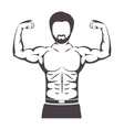 silhouette half body muscle man vector image vector image