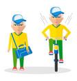 sport elder mans vector image vector image