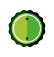 sticker green badge empty icon vector image vector image