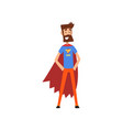 super hero dad character in superhero costume and vector image vector image