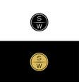 sw-logo vector image vector image