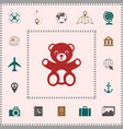 teddy bear icon elements for your design vector image