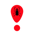 Tick insect silhouette Mite deer ticks icon Red vector image vector image