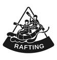 triangular rafting logo simple style vector image