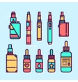 Vape devices and liquids graphic style icon vector image vector image
