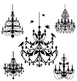 Vintage chandelier set vector | Price: 1 Credit (USD $1)