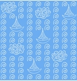 Watercolor blue color seamless pattern vector image vector image