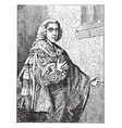 william pitt earl of chatham vintage vector image vector image