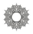 Zentangle stylized Round Indian Arabic Mandala vector image vector image