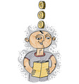 a boy reading a book Education and learning con vector image