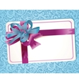 beautiful greeting card with ribbons vector image