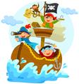 happy pirates vector image