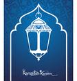 Ramadan Kareem Pattern Window Mosque vector image